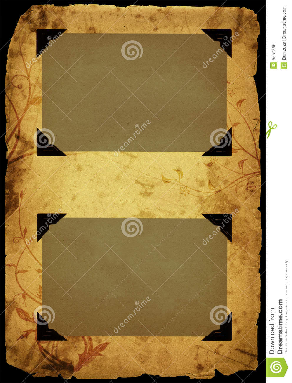 Vintage Album Page Stock Image Image Of Black Page Blank 5557365
