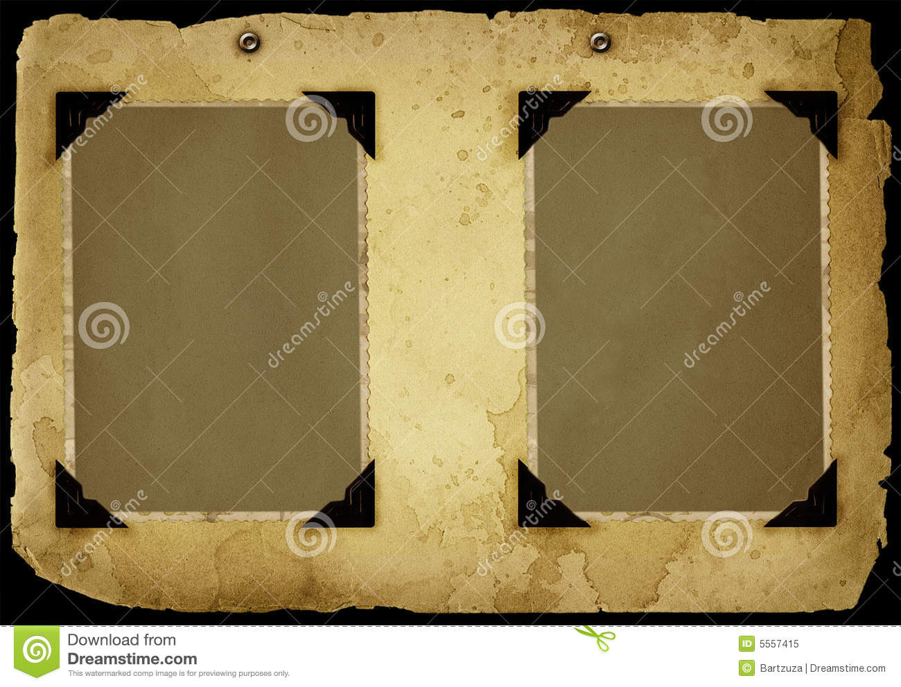 Photo Page: Vintage Album Page Stock Image. Image Of Formal, Blank