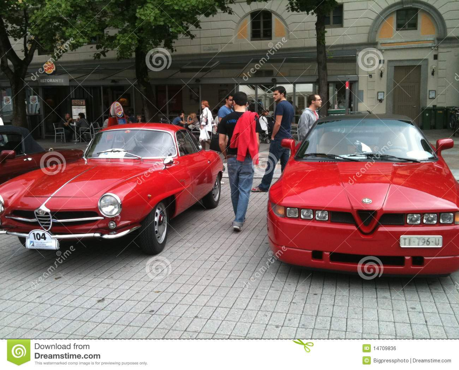 Old Vintage Classic Car Alfa Romeo Editorial Photo Image