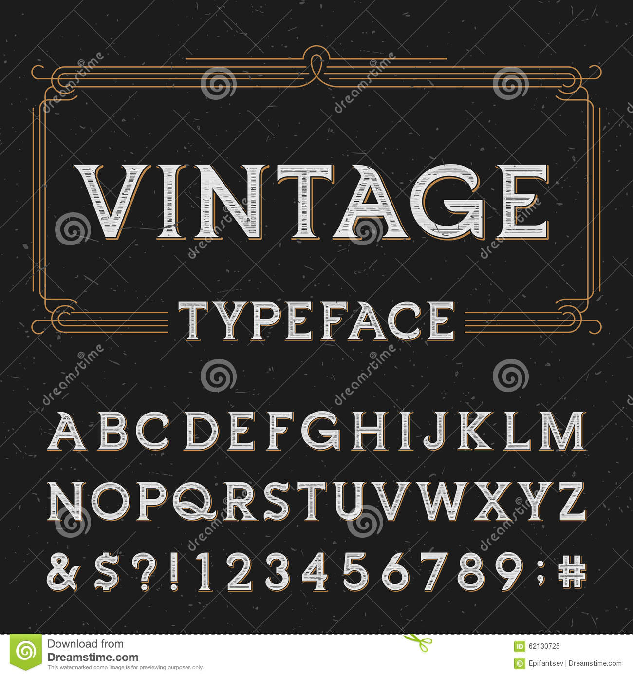 Type Letters Numbers And Symbols On A Dark Distressed Background Alphabet Font For Labels Headlines Posters Etc