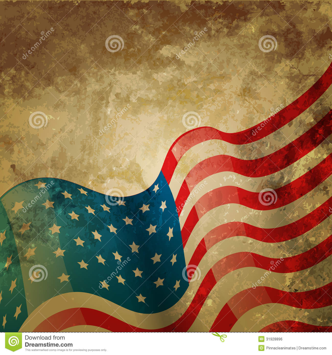 Vintage American Flag Fourth Holiday