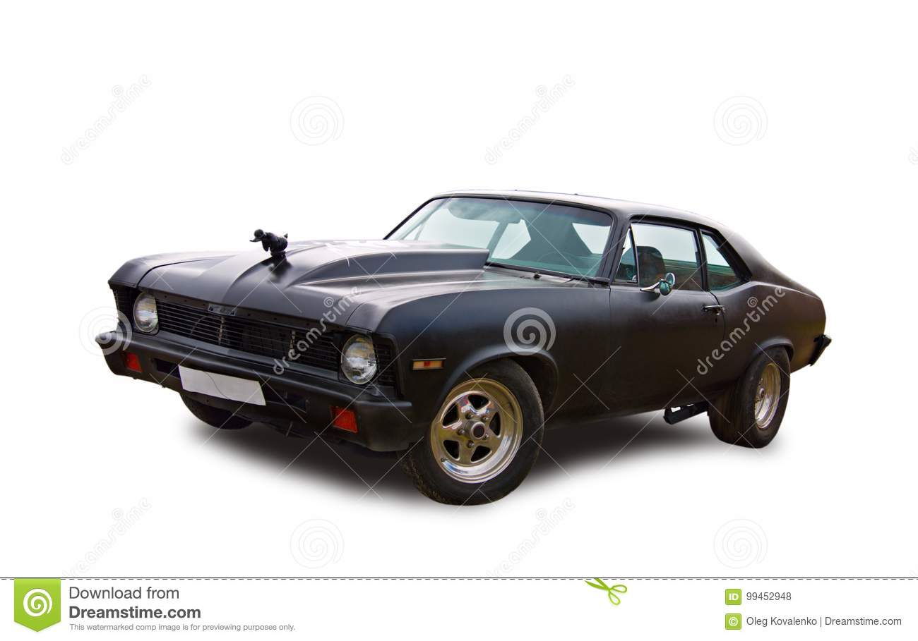 Vintage American Muscle-car. White Background. Editorial Stock ...