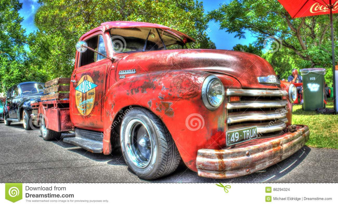 Vintage American 1940s Chevy Pickup Truck Editorial Stock Image ...