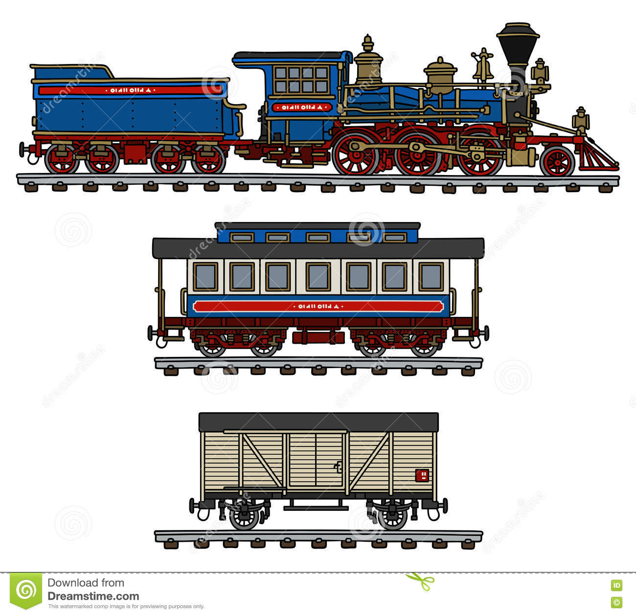 Vintage american steam train stock vector image 82600380 for American classic realty