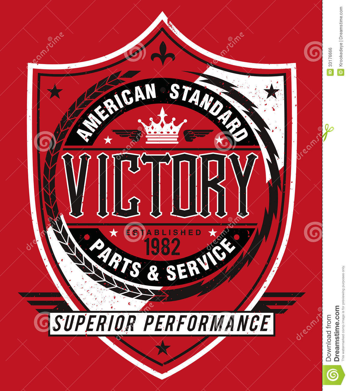 Vintage Americana Style Victory Label