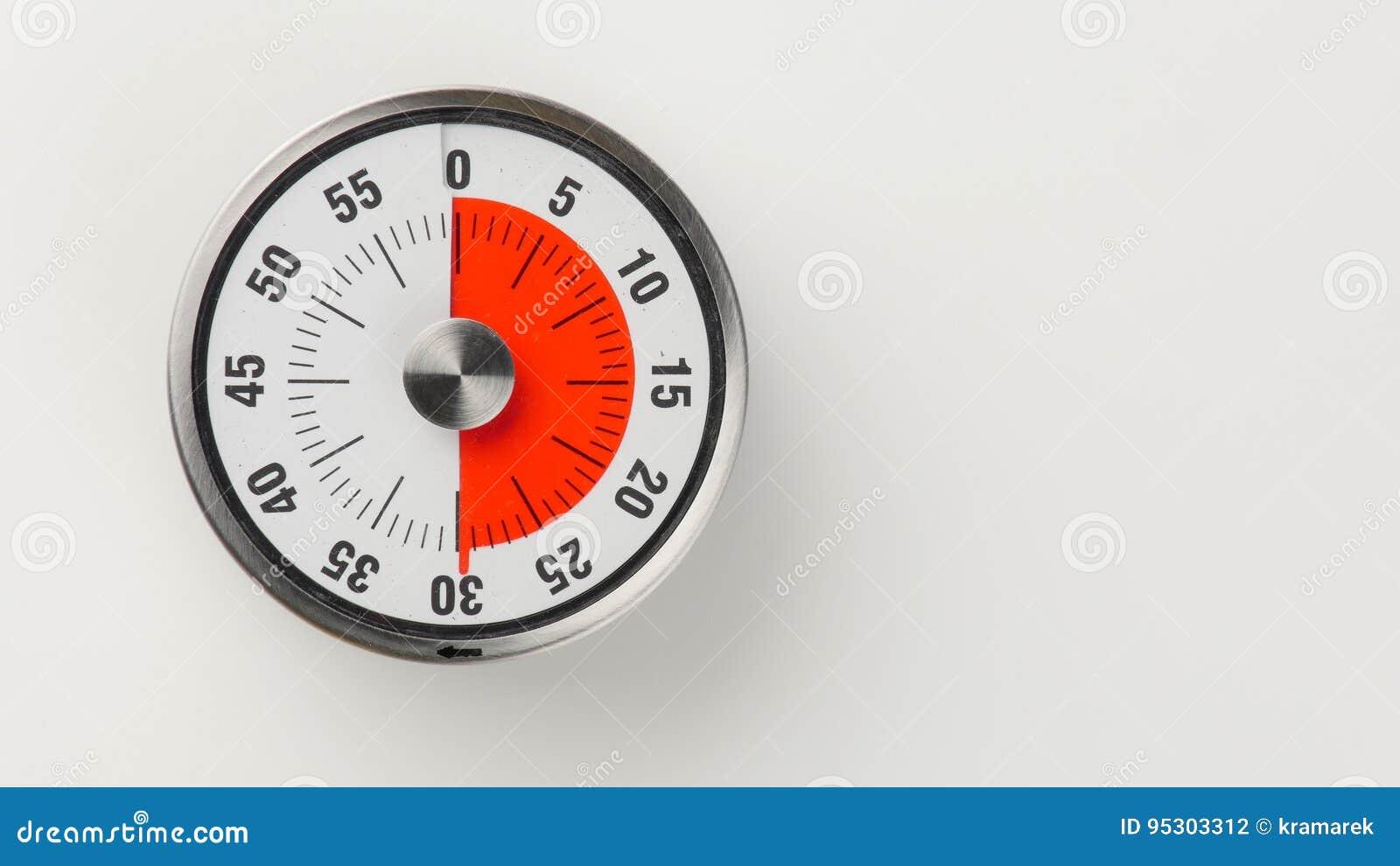 vintage analog kitchen countdown timer 30 minutes remaining stock