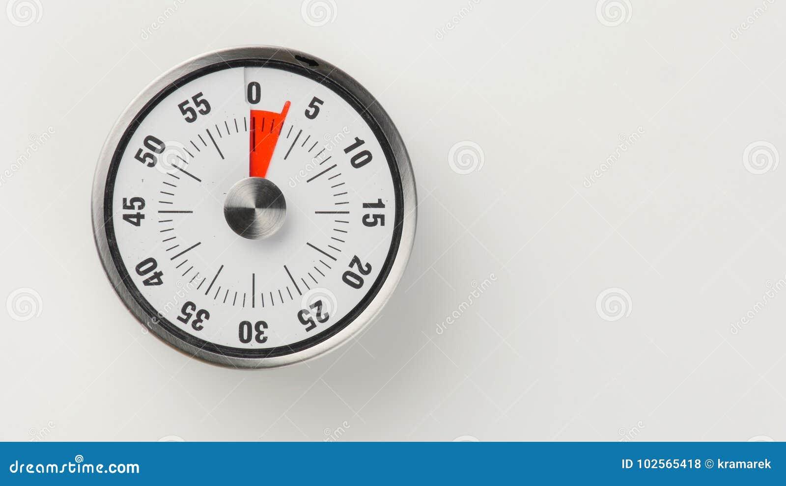 vintage analog kitchen countdown timer  3 minutes