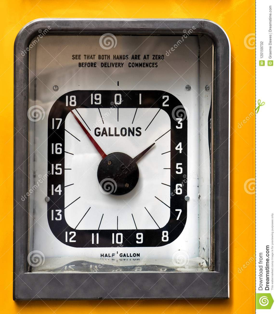 Vintage Analog Petrol Or Gas Pump Stock Photo - Image of
