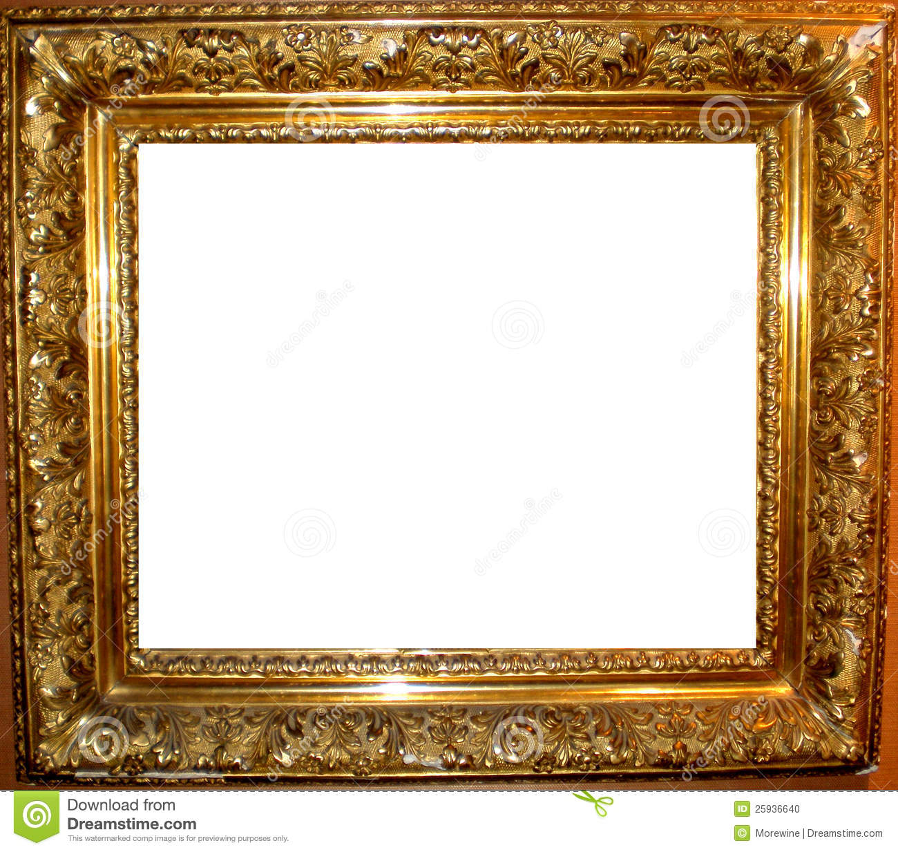 Vintage Antique Gold Frame Stock Photo  Image: 25936640