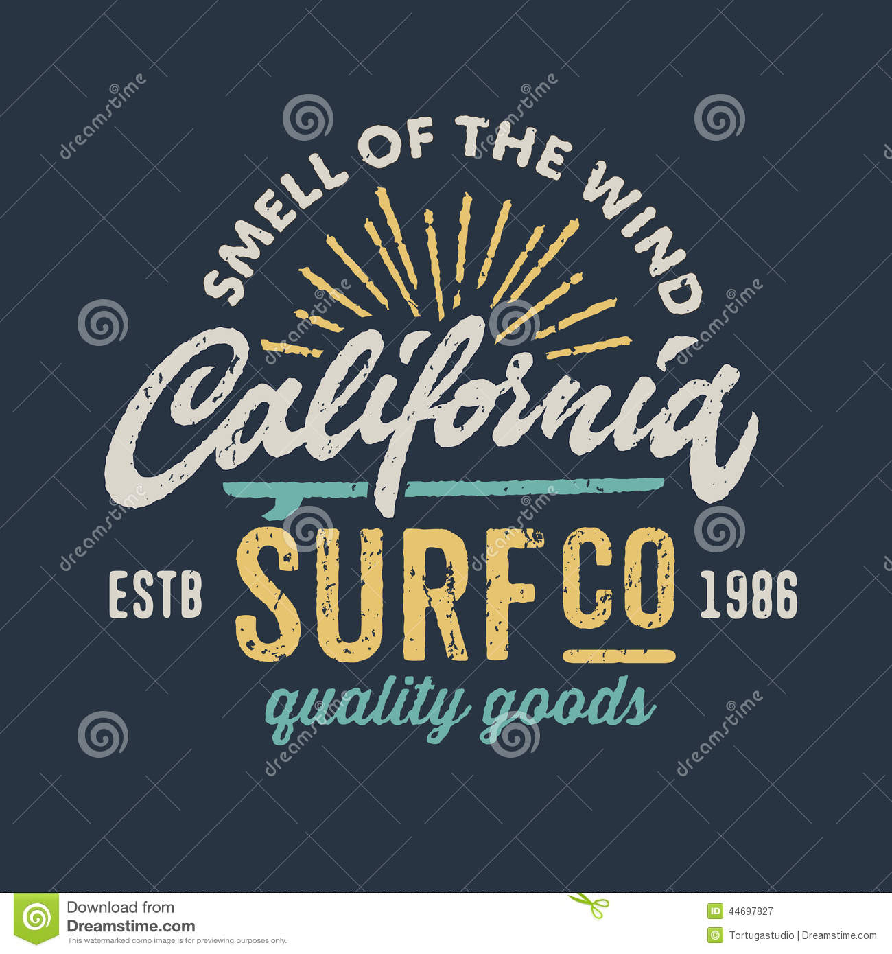 Vintage Apparel Design For Surfing Company Stock Vector Image