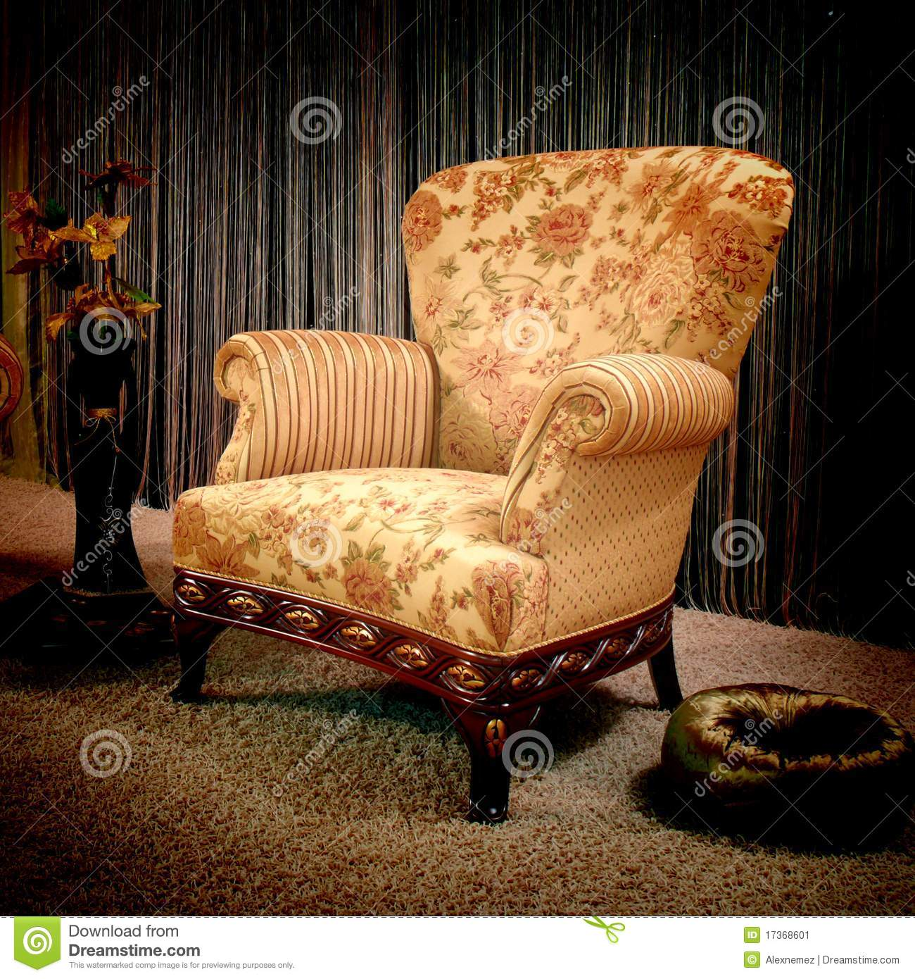 vintage armchair stock image image 17368601
