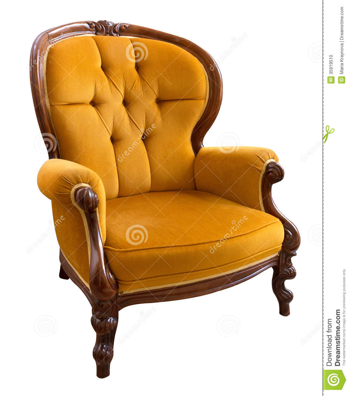 Vintage armchair stock photo image 35919510 for Armchair vintage