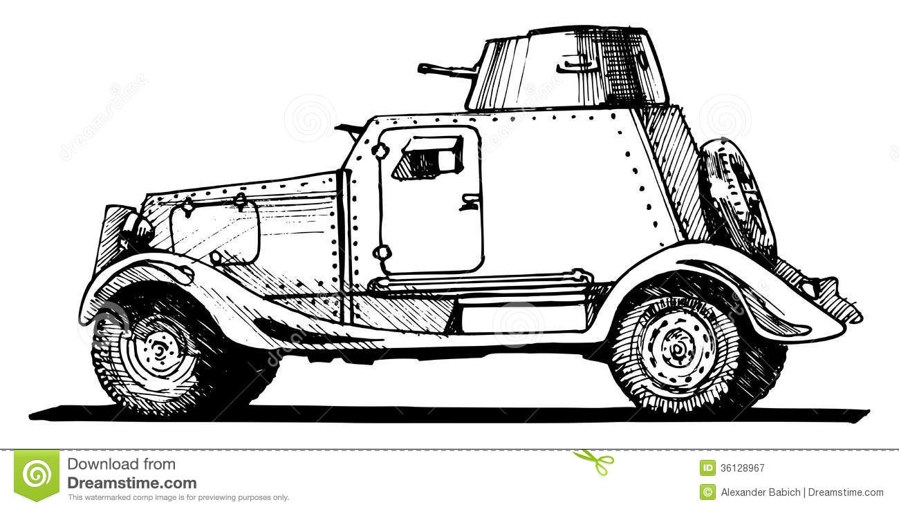 vintage armored car stock illustration  image of classic