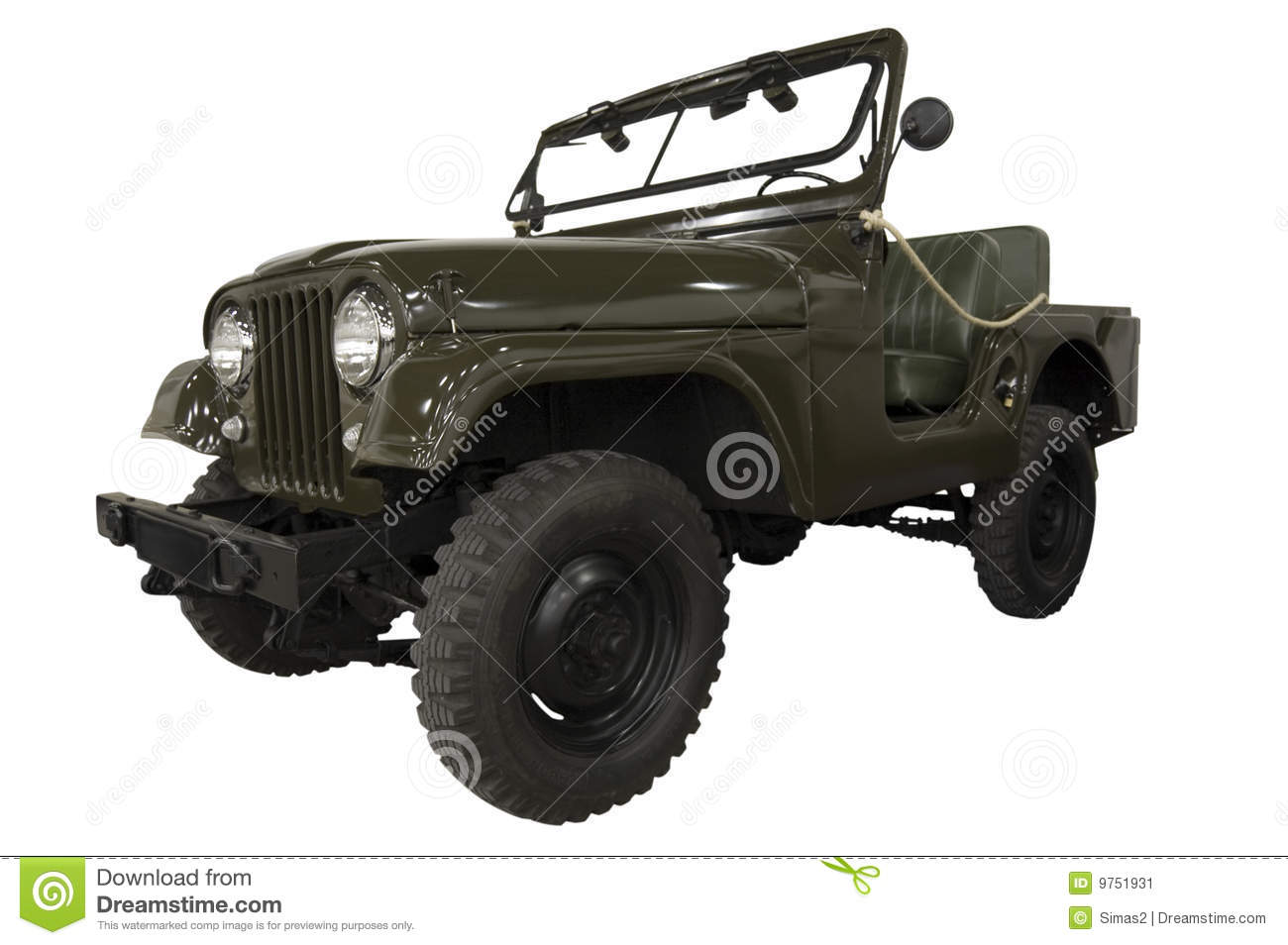 Vintage Army Jeep Stock Image Image 9751931