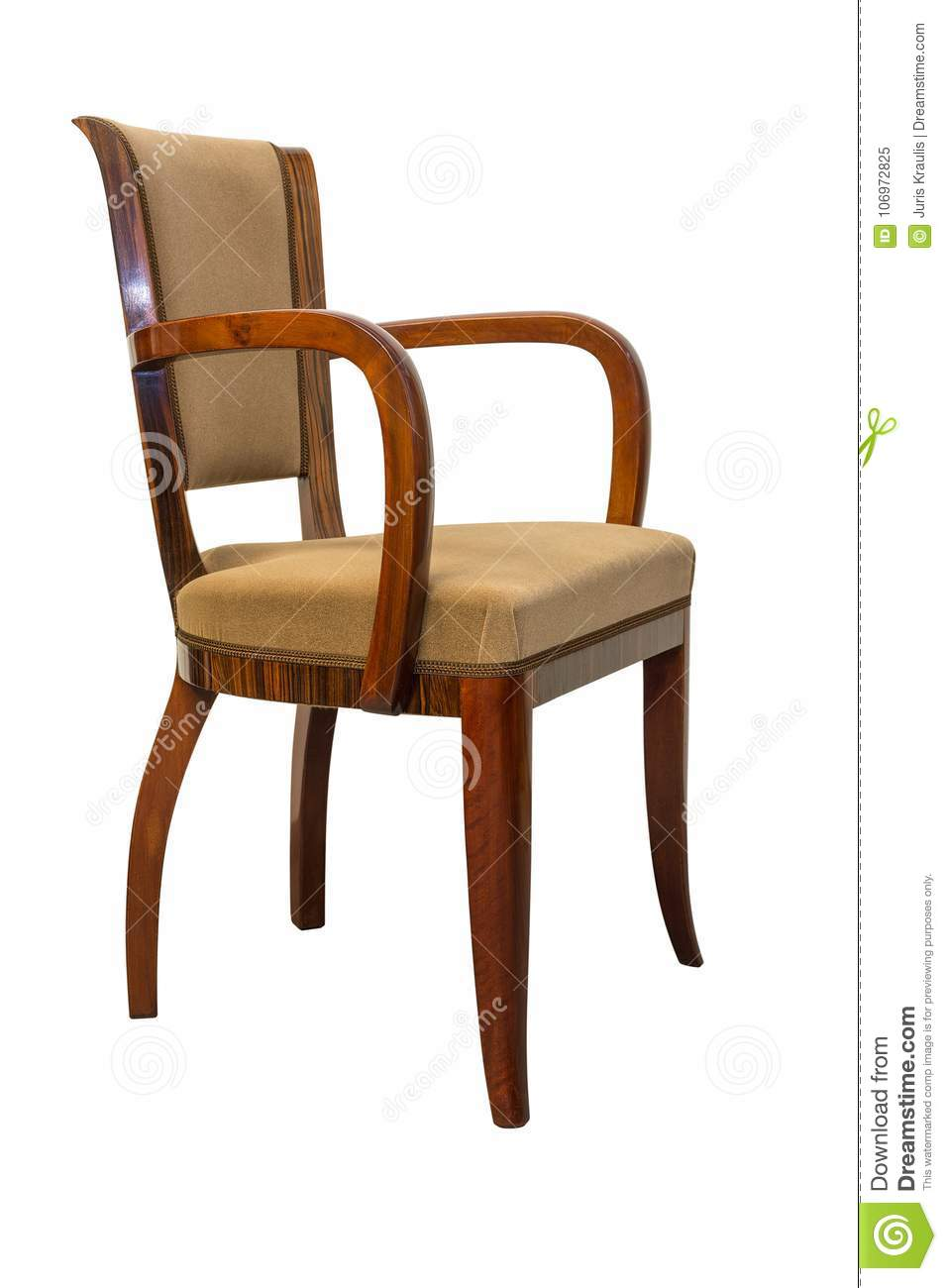 vintage art deco furniture. Download Vintage Art Deco Chair Isolated On White Background Stock Image - Of Carved, Furniture