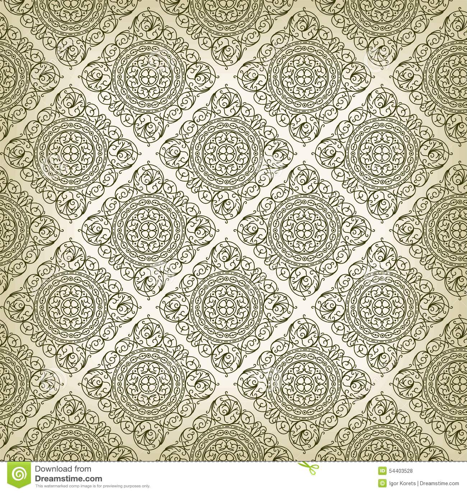 Vintage Art Deco Style Seamless Pattern Texture Stock ...