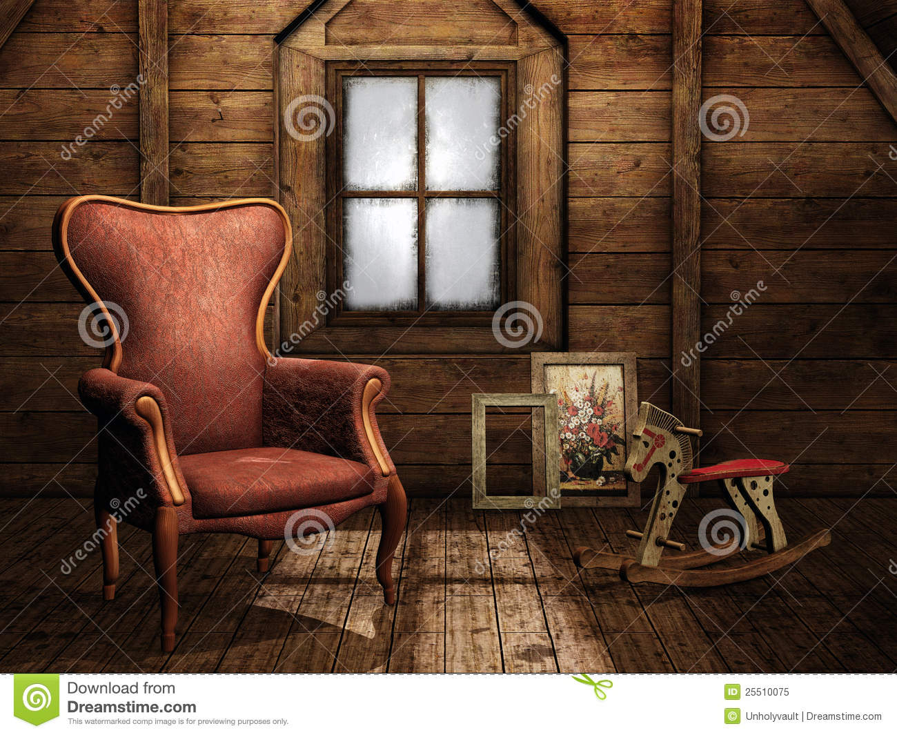 Vintage Attic Royalty Free Stock Photo Image 25510075