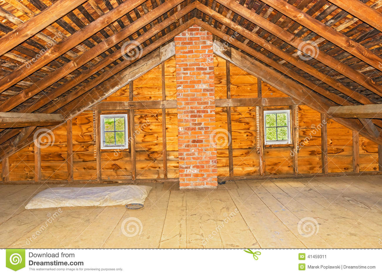Vintage Attic In Old Farm House Stock Photo Image 41459311