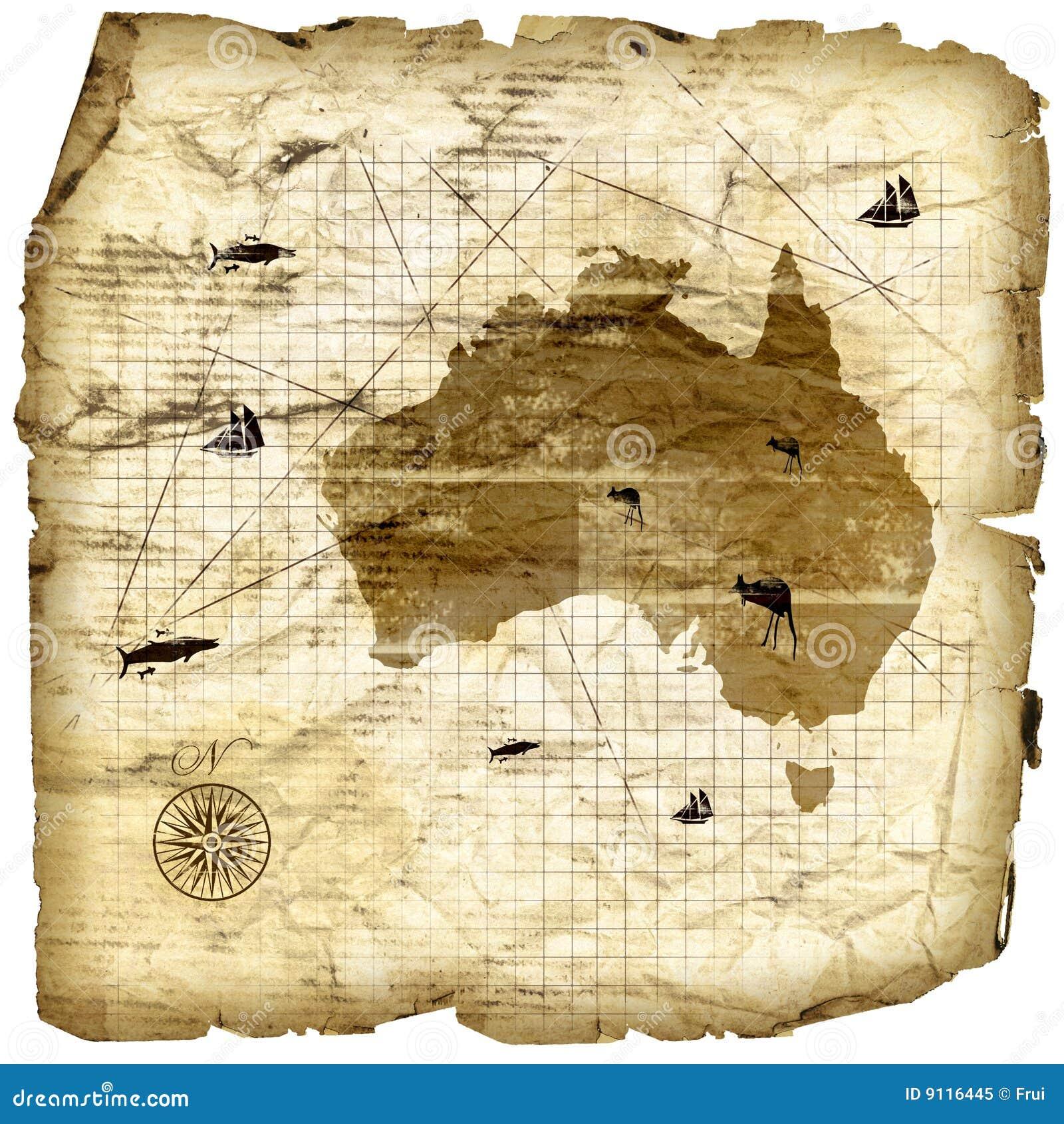 Vintage Australia Map Royalty Free Stock Photo  Image