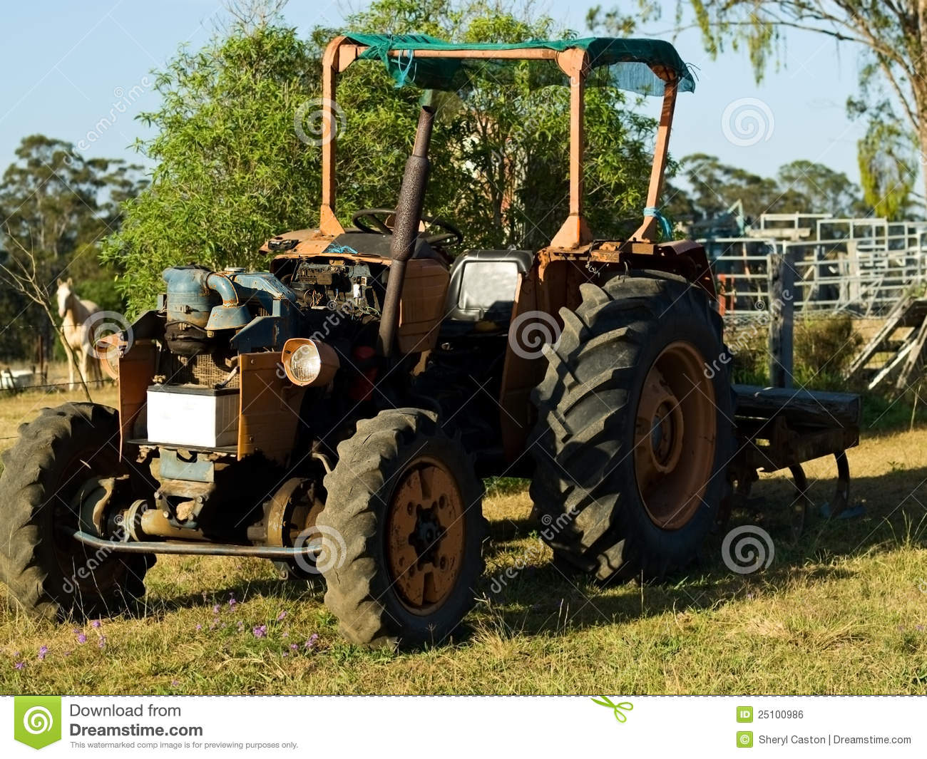 Used Tires Prices >> Vintage Australian Tractor Agriculture Australia Royalty Free Stock Image - Image: 25100986