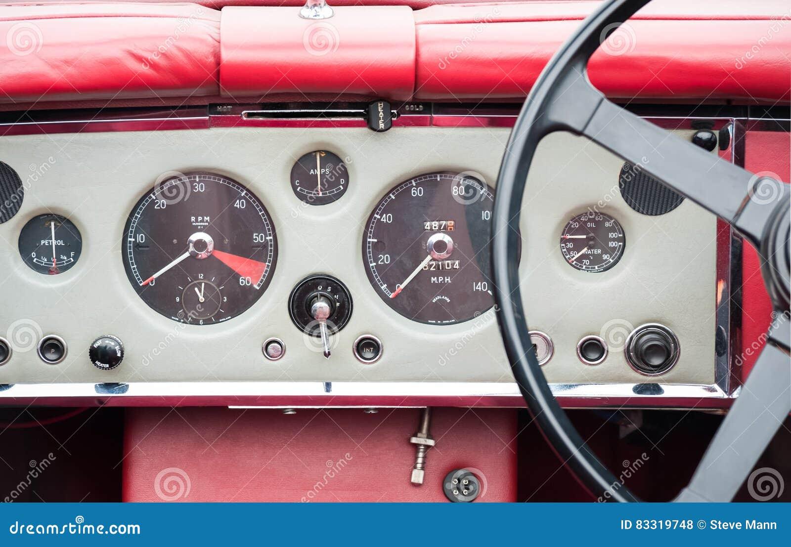 Vintage auto dashboard stock photo. Image of retro, automobiles ...