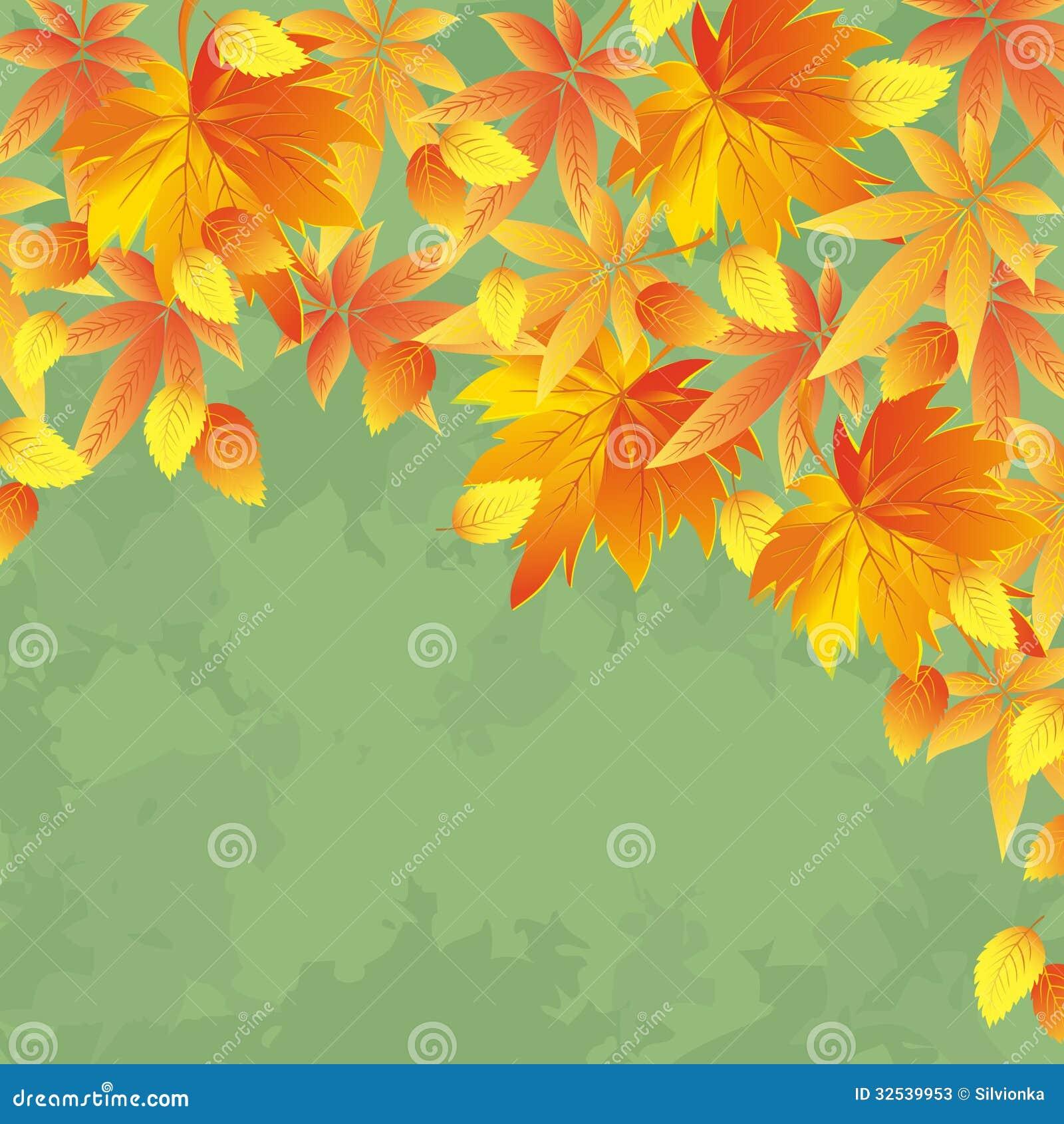 Vintage Autumn Background, Leaf Fall Stock Photos - Image ...