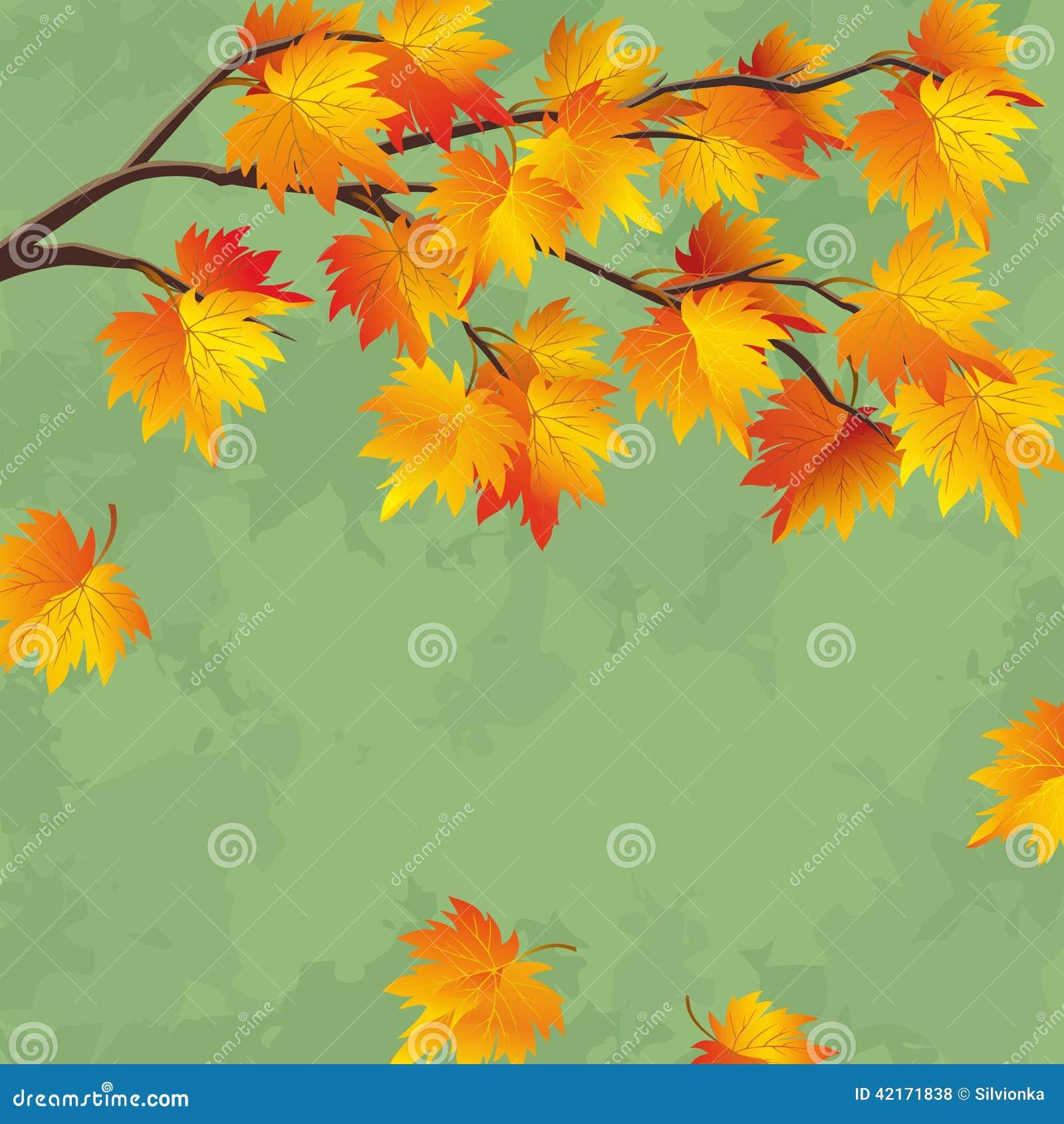 Vintage Autumn Wallpaper, Leaf Fall Background Stock ...