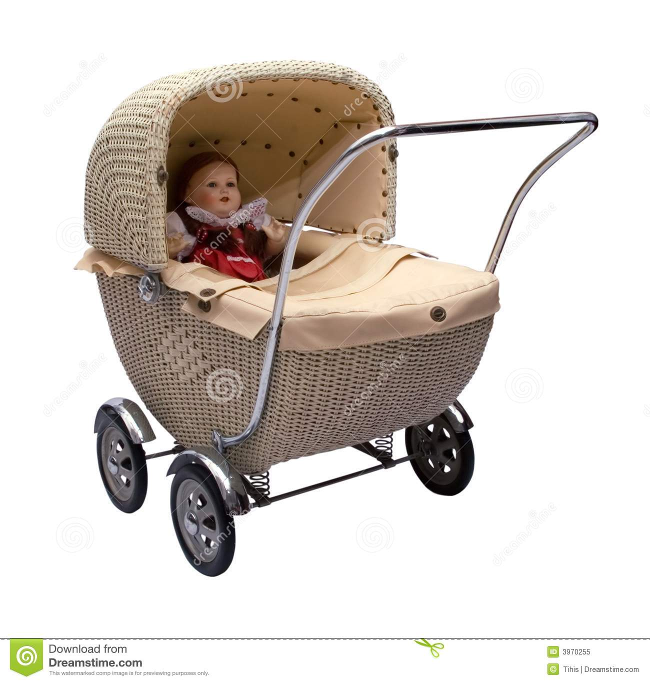 Vintage Baby Carriage Royalty Free Stock Photo Image