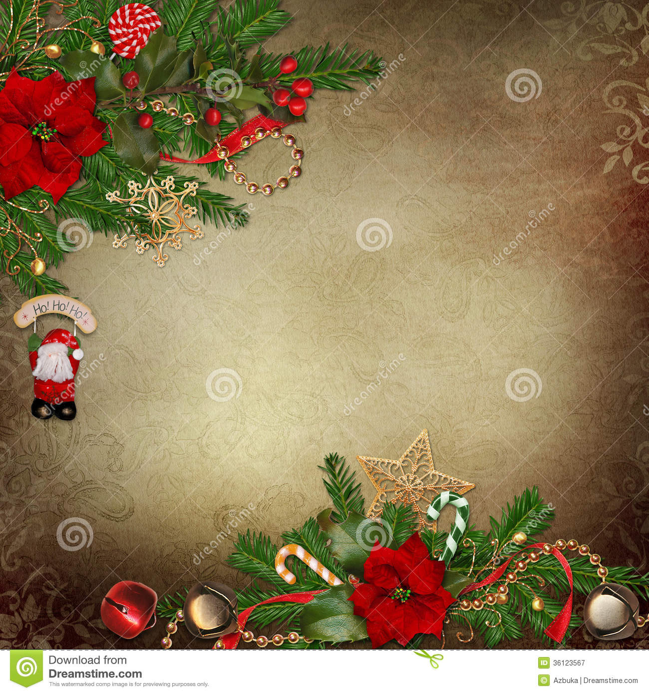 Beautiful Christmas Decorations vintage background with beautiful christmas decorations royalty
