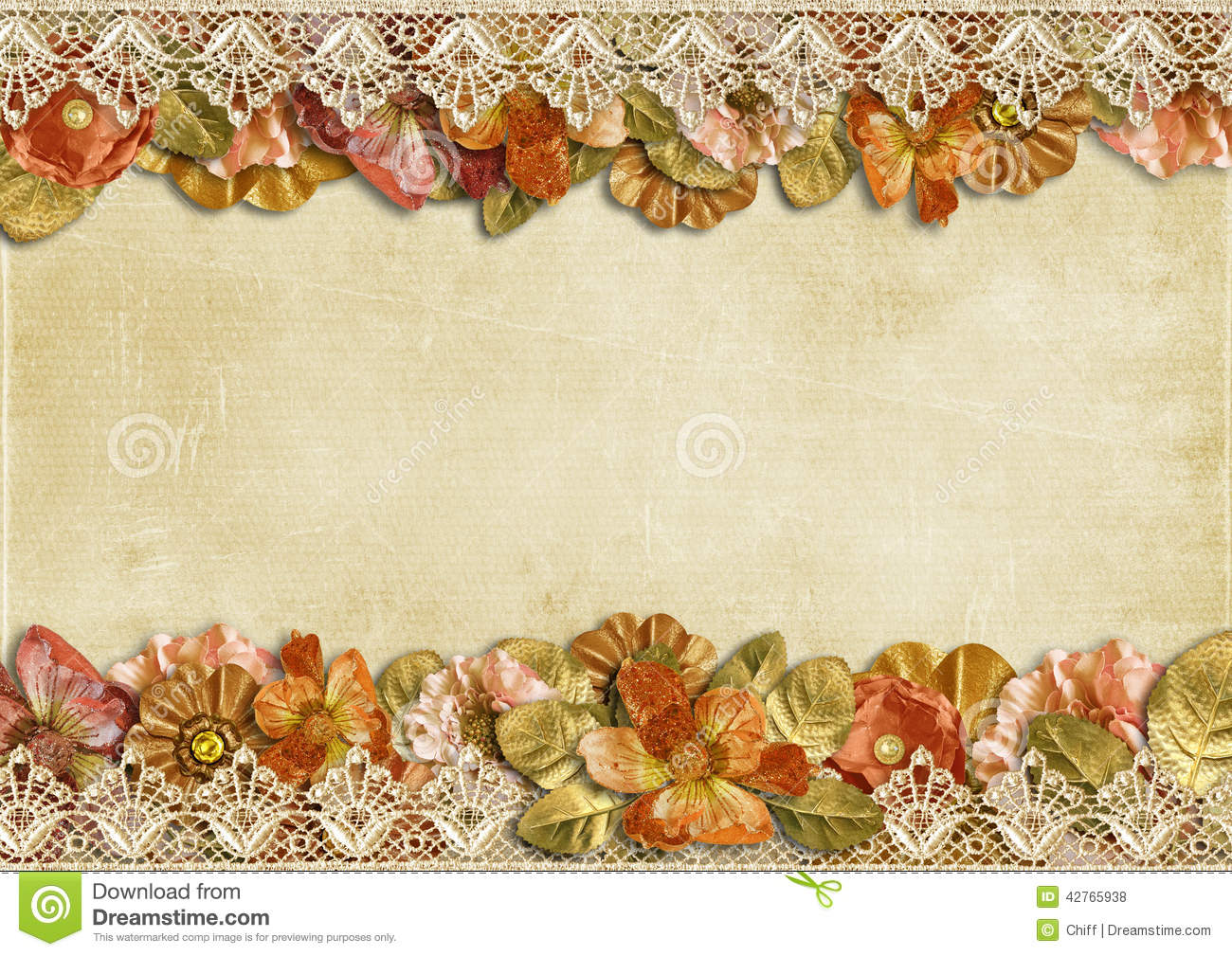 Best Place To Buy Decorations For The Home Vintage Background With A Border Of Beautiful Flowers