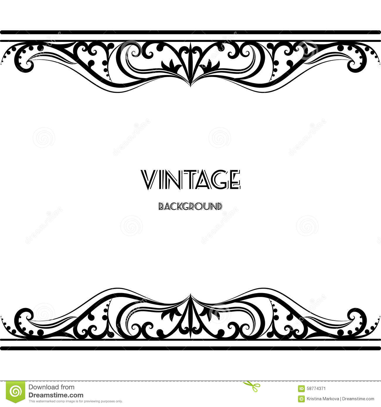 Vintage Background Frame Design Black Vector