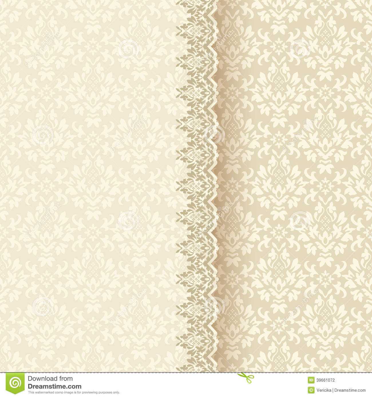 Vintage Lace Frame Ornamental Flowers Vector Texture Stock ...