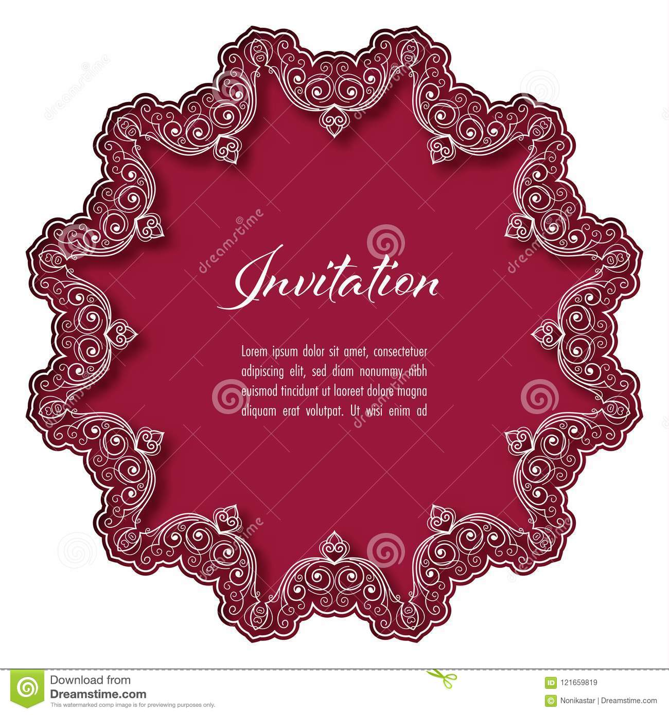 Perfect Real Lace Wedding Invitations Ideas - Invitations and ...