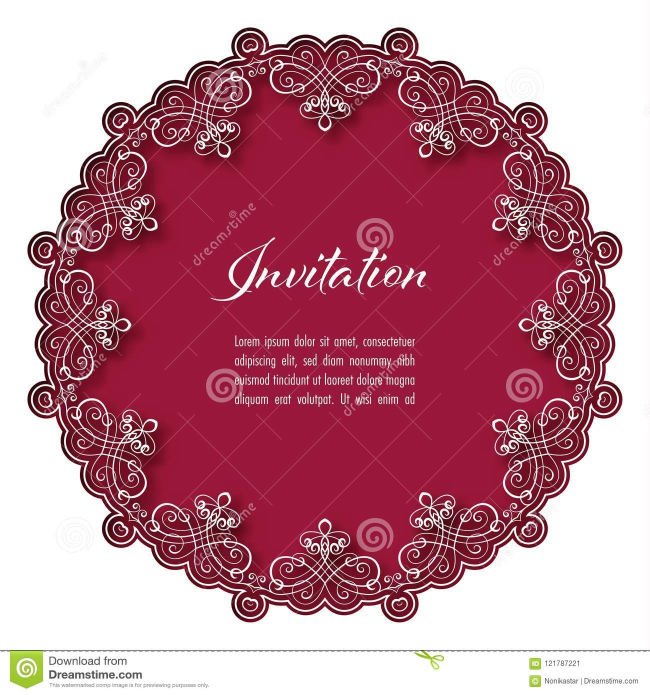 Magnificent Pink Lace Wedding Invitations Image Collection ...