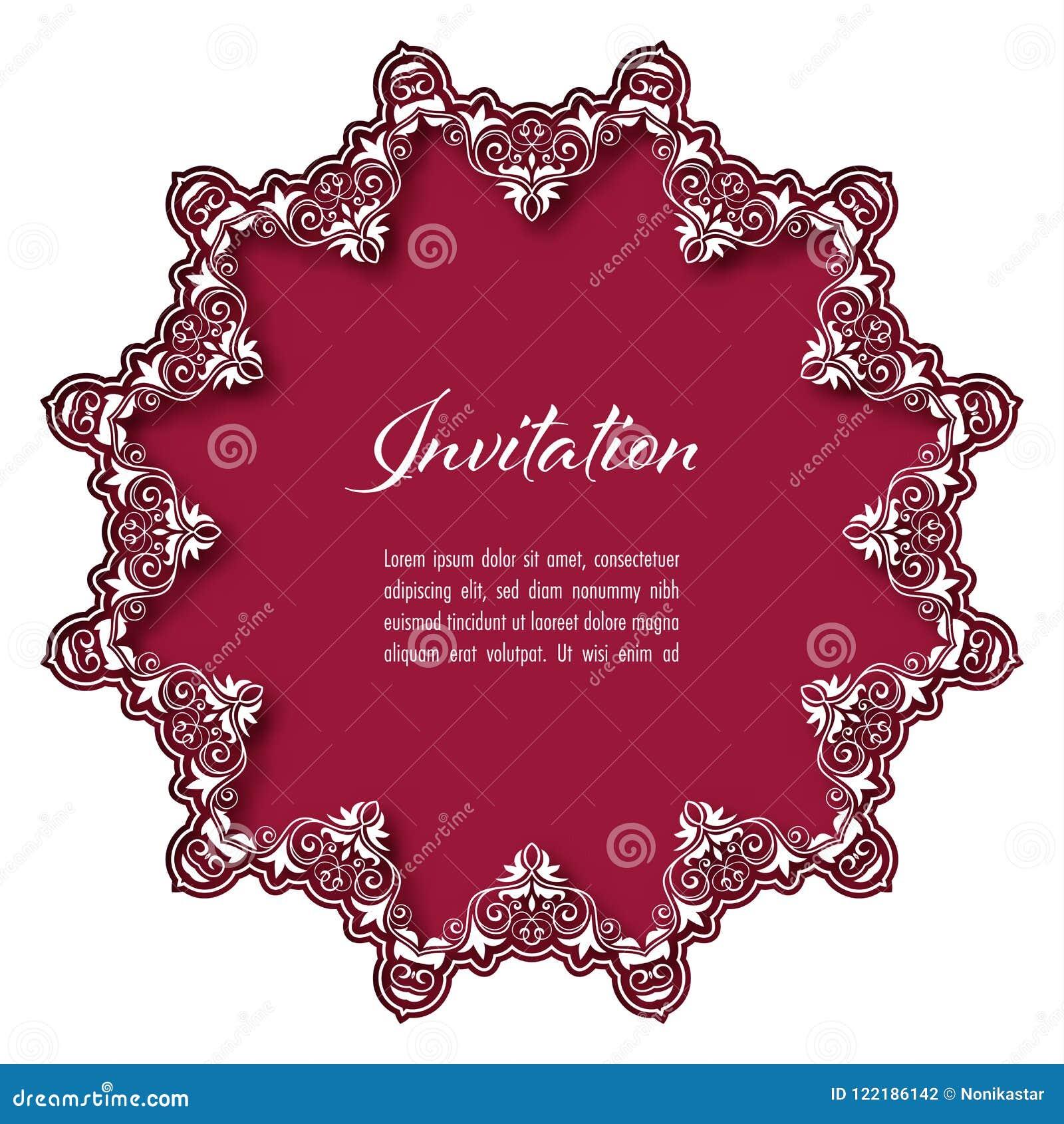 Vintage Invitation Template Stock Illustration - Illustration of ...