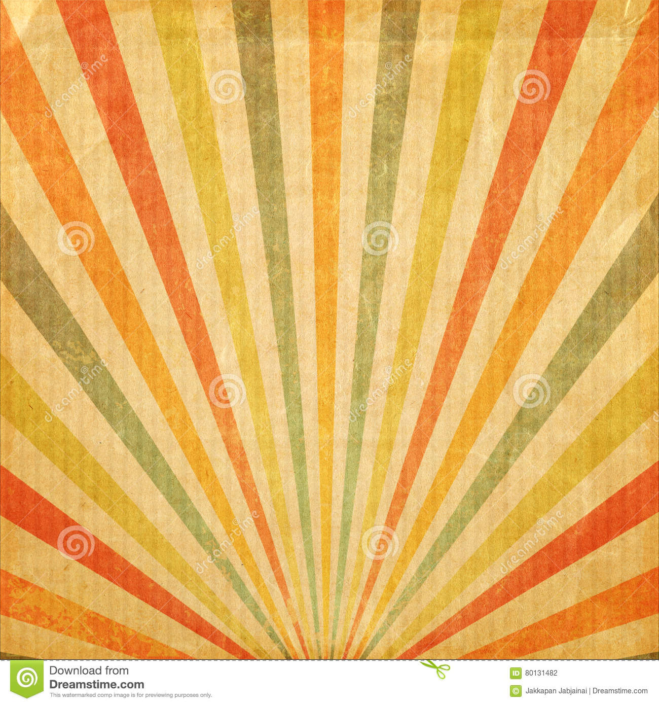 Vintage background Multi color rising sun or sun ray