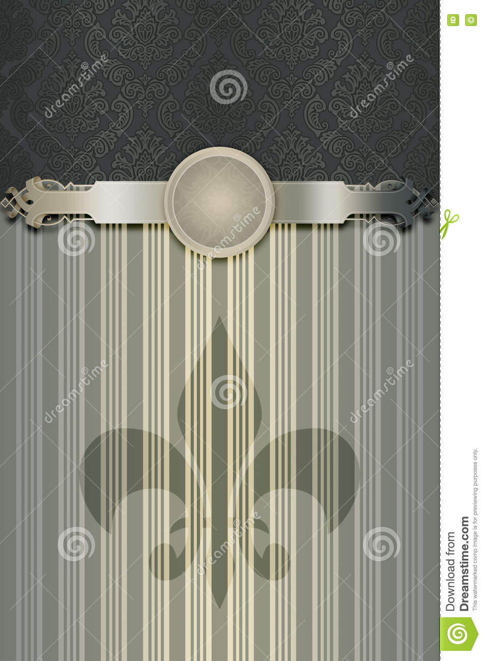 Old Fashioned Book Cover Design ~ Decorative background with old fashioned patterns stock