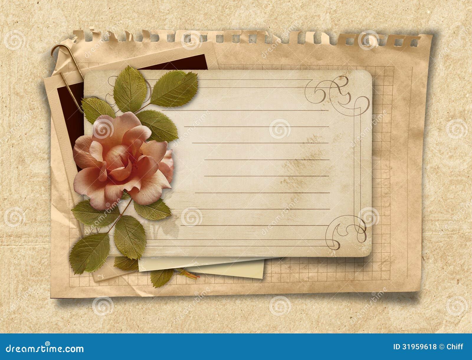 Как сделать открытки своими руками под старину с днем рождения