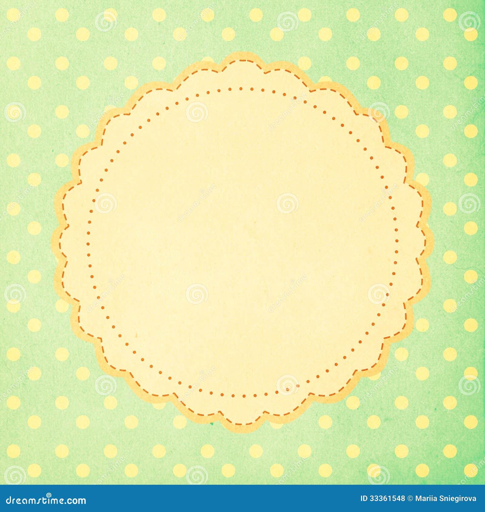 Vintage Background Polka Dot Style Royalty Free Stock