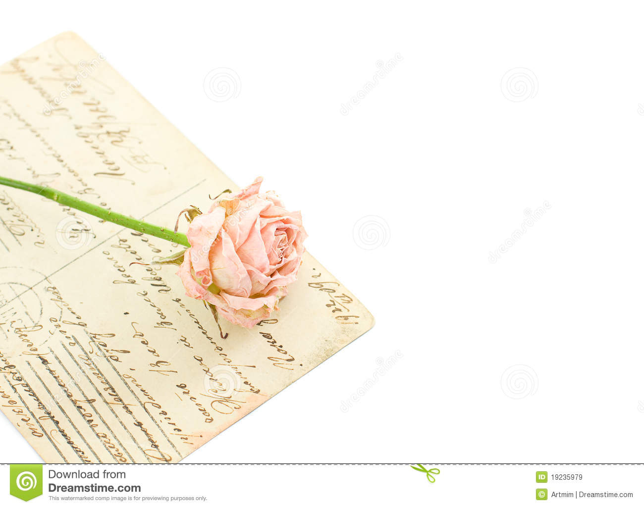 Italian handwritten postcard letter stock photo image 39254147 - Vintage Background With Postcards And Flower Royalty Free Stock Images