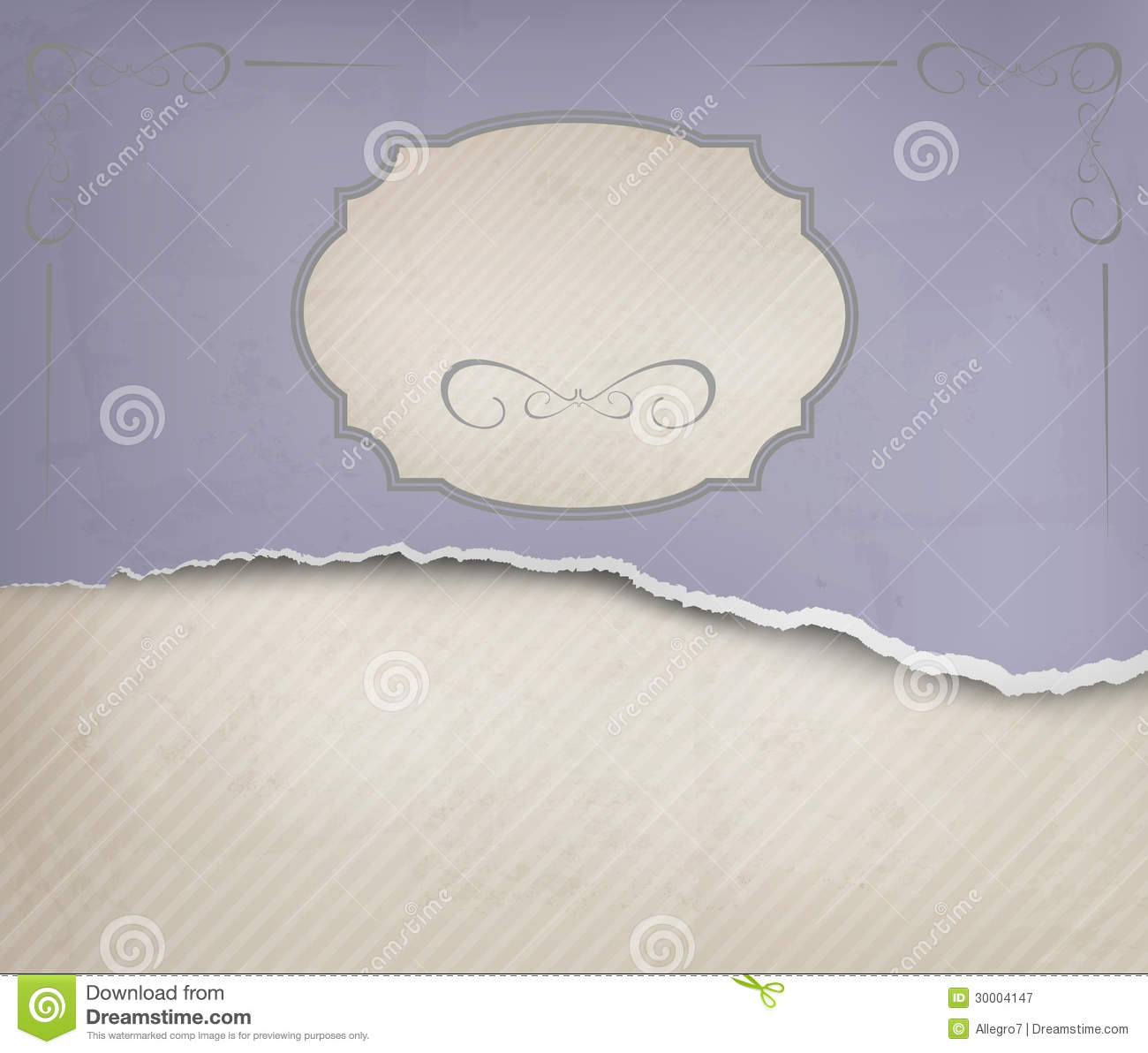 Ripped Old Paper: Vintage Background With Ripped Old Paper. Royalty Free