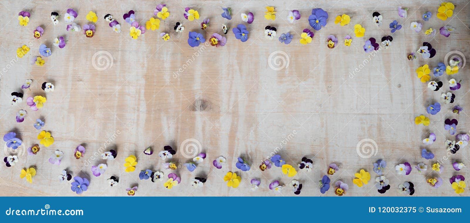 Vintage background - wooden board with floral frame