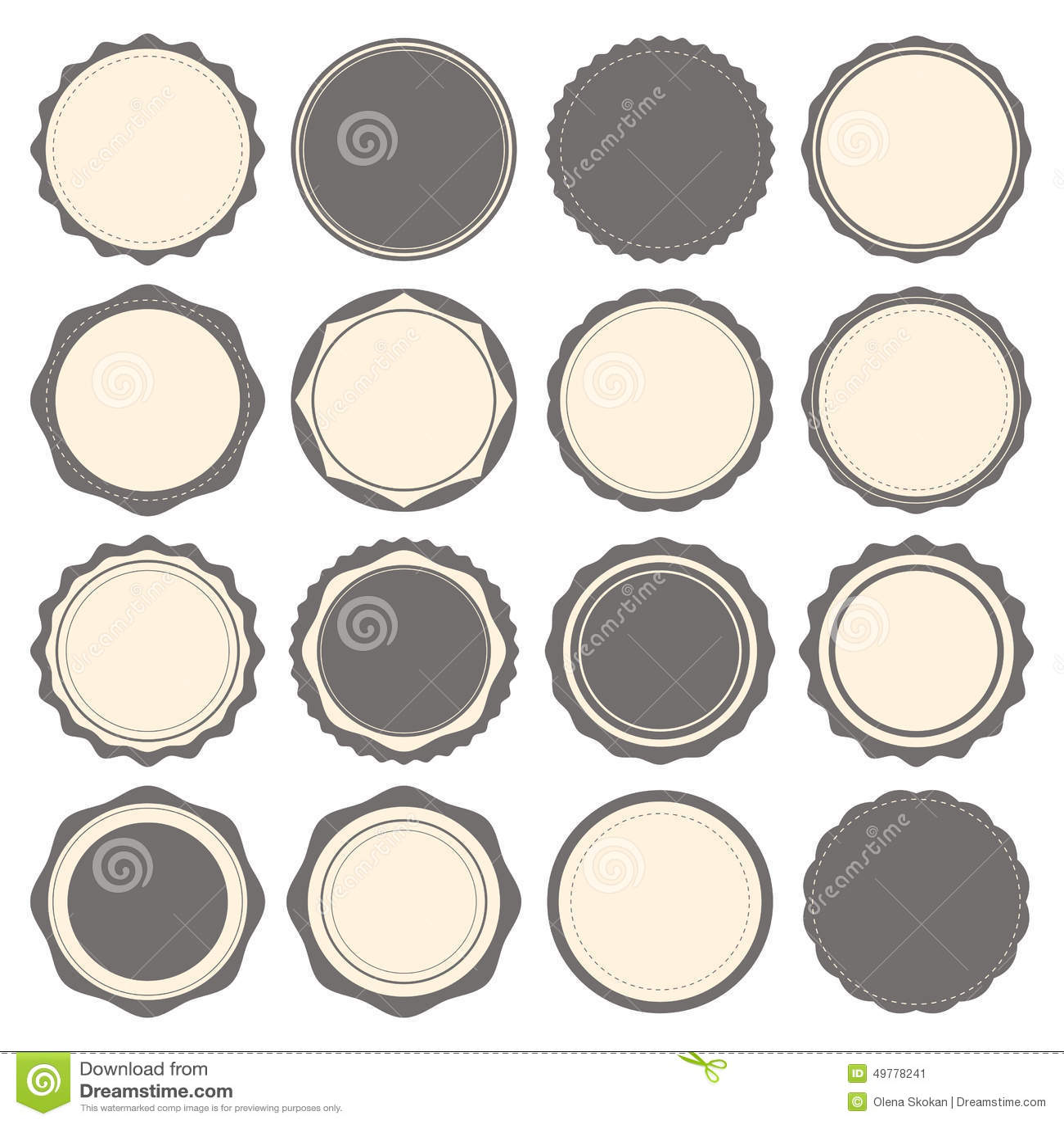 vintage badges labels and logo template vector design elements stock vector image 49778241. Black Bedroom Furniture Sets. Home Design Ideas