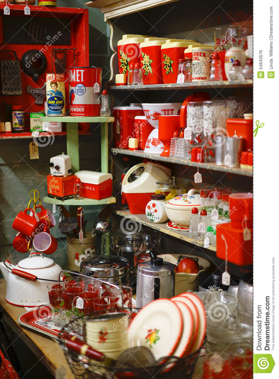 Download Vintage Bakelite Kitchenware Editorial Photo   Image Of Cups,  Canisters: 54643576