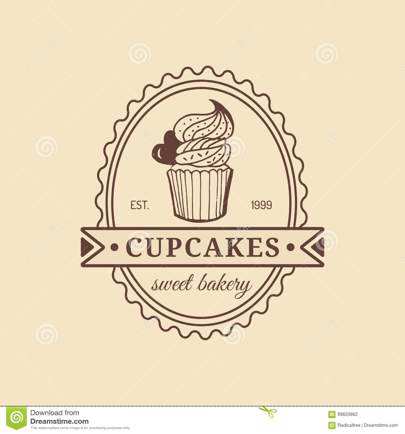 Vintage Cake Logo Design : Bakery Vintage Stamp Sign Cartoon Vector CartoonDealer ...
