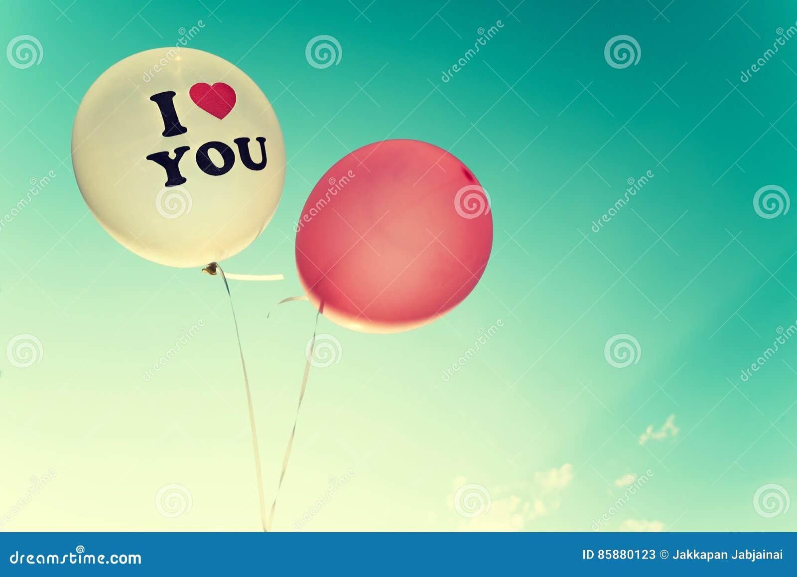 Vintage Balloon Love Symbol In Valentine Day Stock Image Image