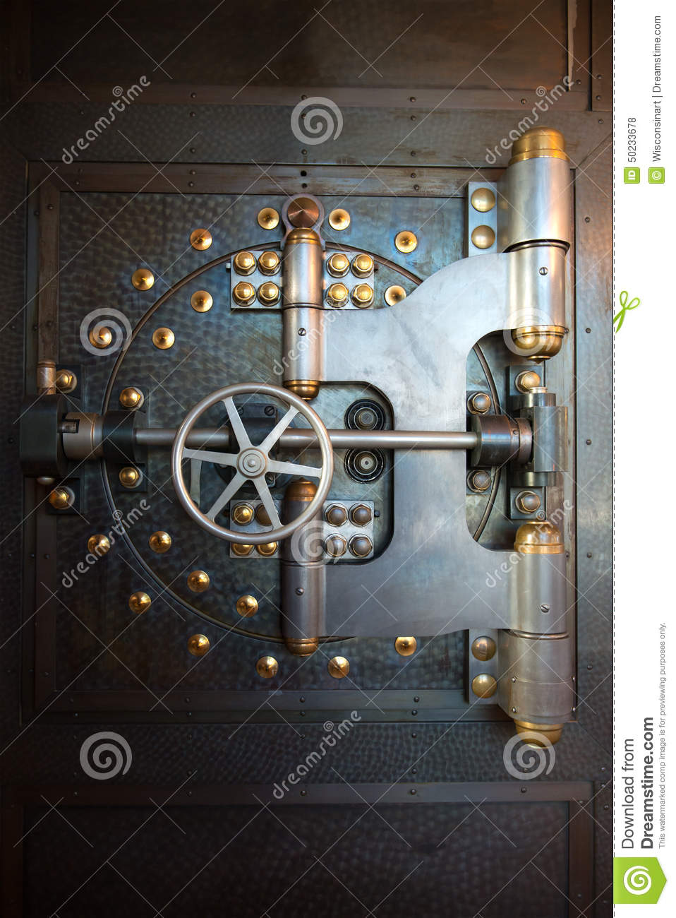 Vintage Bank Vault Door Safe Stock Photo Image Of Money