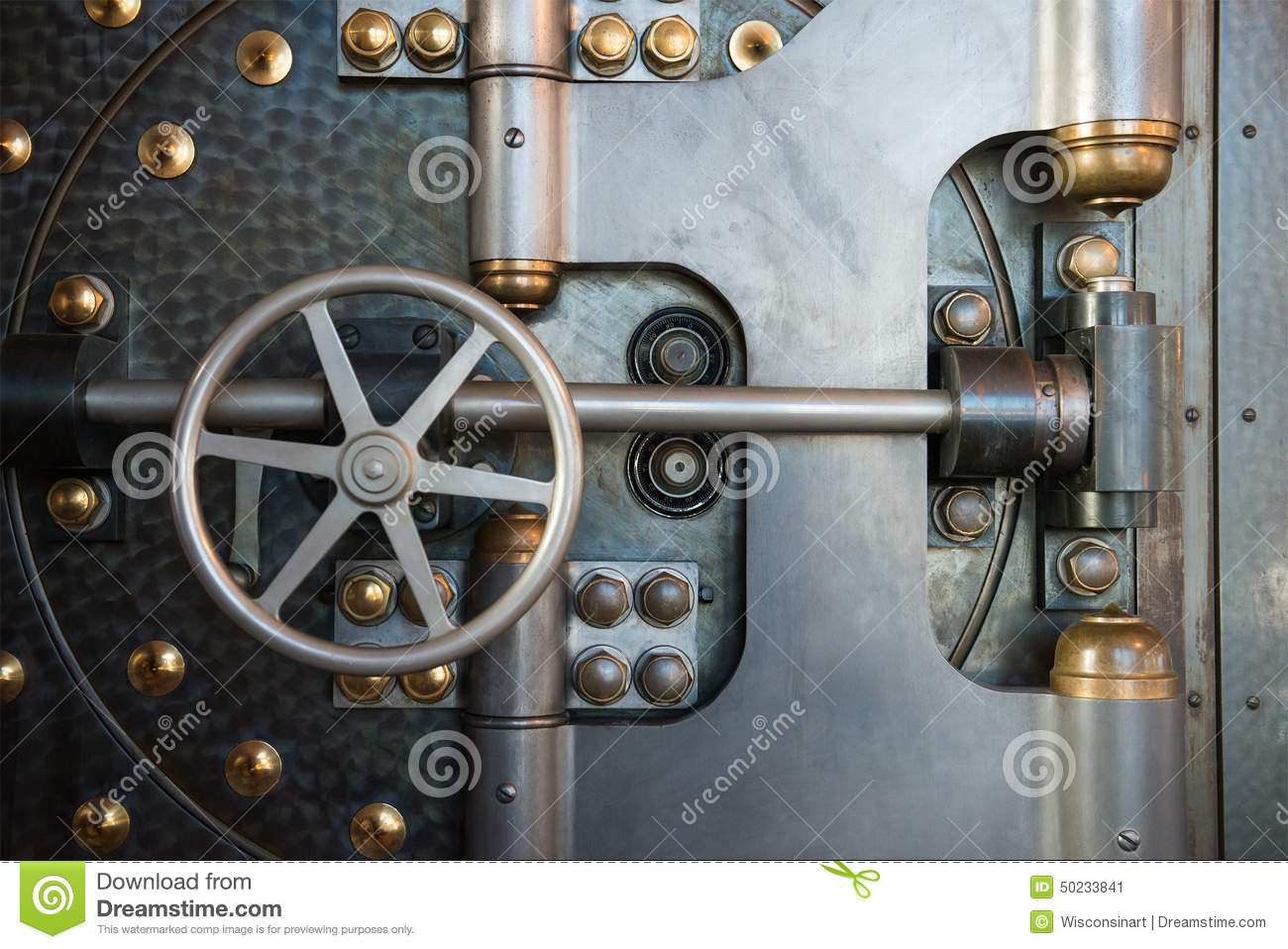 vintage bank vault safe industrial background stock image. Black Bedroom Furniture Sets. Home Design Ideas
