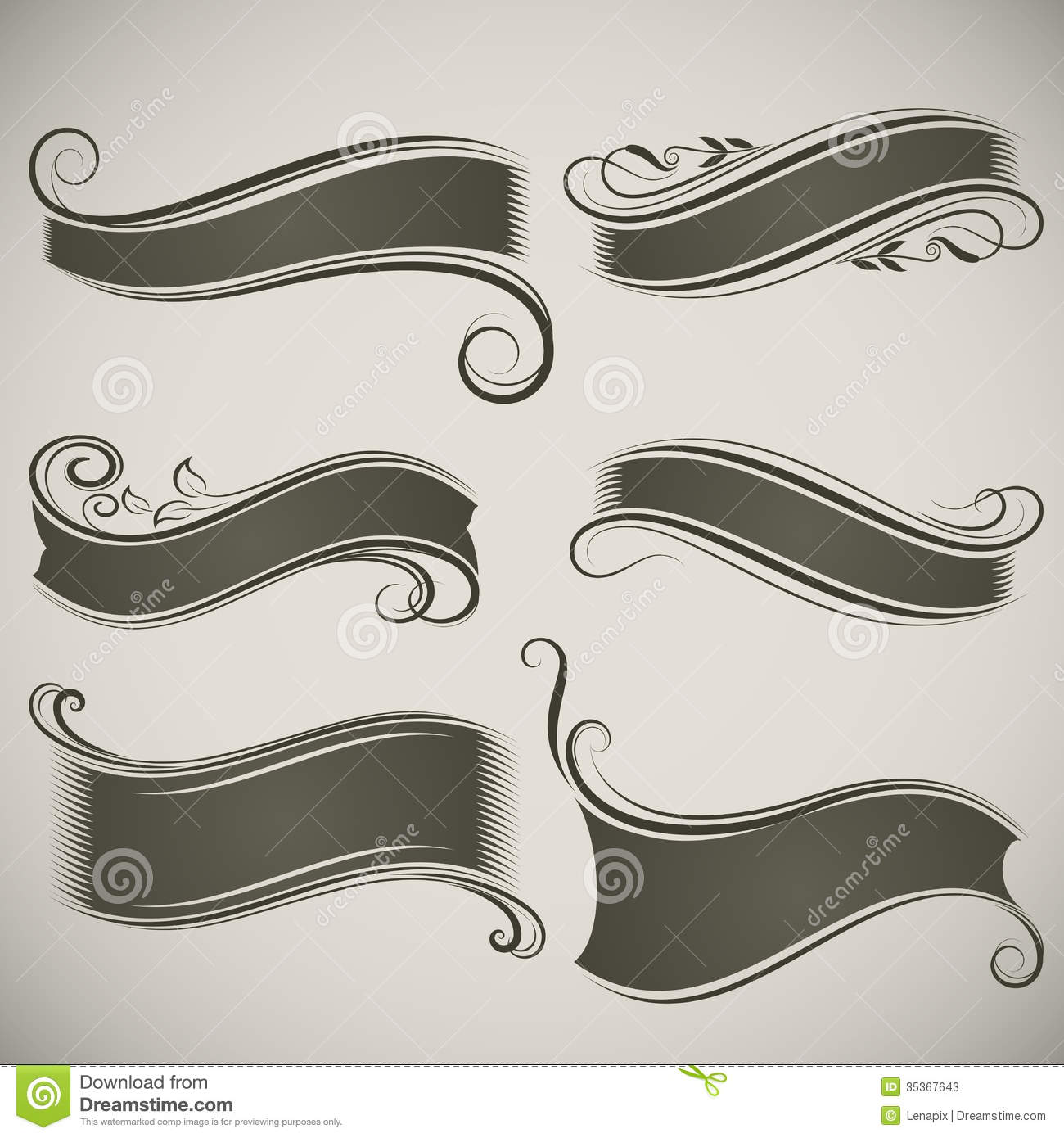 Vintage Banner Shapes Stock Photos - Image: 35367643