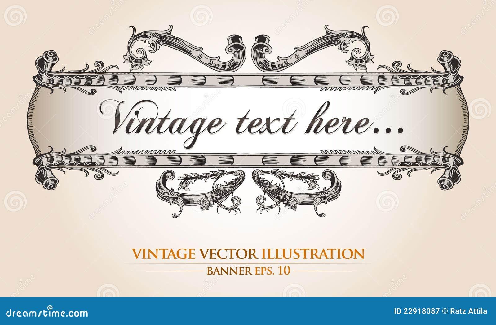 vintage banner template stock vector. illustration of heraldic, Powerpoint templates
